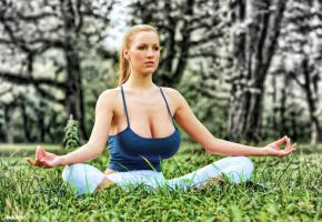 Jordan Carver - Yoga by askine