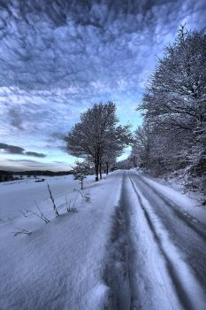 Winterpath dramatic HDR by FlorianHebel