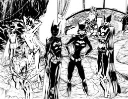 Batgirls - ink by teamzoth