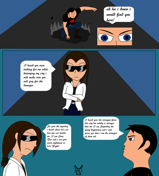 Masterghost vs Superboy Fight page 1 by MasterghostUnlimited