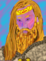 Thor in repose by Be-Lyle