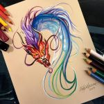 246- Colorful Chinese Dragon Design by Lucky978