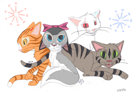 Cute Kittens!! by horselife1236