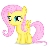 Young fluttershy by buggzz