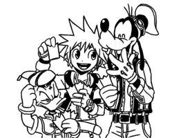 Sora, Donald, and Goofy by TonicShadow