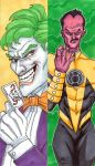 Joker and Sinestro bookmarks by artildawn