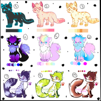 Collab Point Auction Adoptables *OVER!* by MissKittens