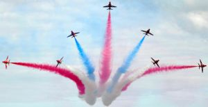 Red arrows brake by in-my-viewfinder