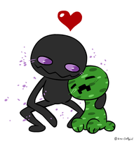 Creeper and Enderman? by Coffgirl