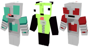 Mincraft Skin Pack: Invader Zim Characters by PhilipTomkins
