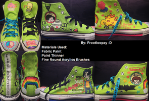 Custom Neon Green Converse by FRooTLooPaY