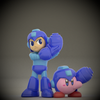 Mega Man and Kirby by SmashingRenders