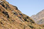 NZ Side of orange coloured mountain by Chunga-Stock