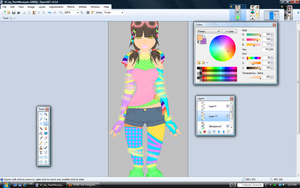 Pretty Rave Girl WIP2 by alexpc901