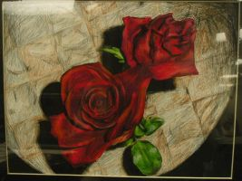 Table and Roses by saabe