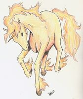 The fire horse : Rapidash by Myssdii