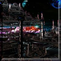City in Space by Dre72