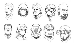 GI Joe heads by bearmantooth