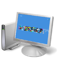 Windows 8 Computer icon w/ Metro zoomed out by pavelstrobl