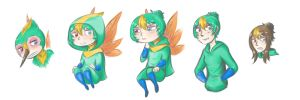 Baby Tooth humanized by Cheshire-no-Neko