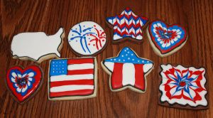 Assorted Americana Sugar Cookies by picworth1000wrds