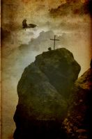 Cross on a rock by vivisektor