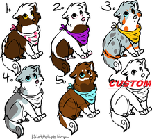 Dog Adopts - 5 :points: by Chard-Red-Eyes