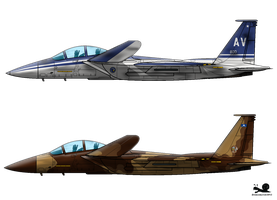 F-15SE+ Silent Eagle 'Bedivere and Beast' by slowusaurus