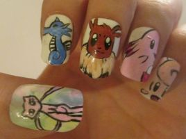 Pokemon nails set 1 by henzy89