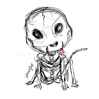 Kickstarter Commission: Chihuahua Chibi Skeleton by FaithWalkers