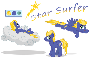Star Surfer Character Reference by Icaron