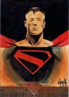Superman: The Legend sketchcard 61 by RobertHack
