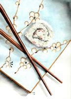 Sushi Plate 1 by theancientofdays