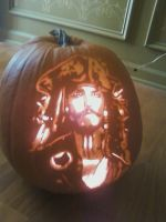 Jack Sparrow Pumpkin Carving by KageToraNoTsume