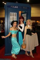 Megacon: Princesses with a TARDIS by Figmentsmedia