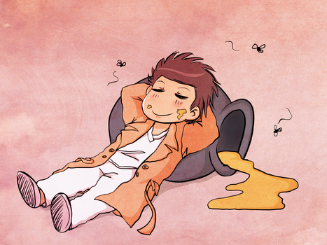 castiel the pooh 2 and bees by Dalva