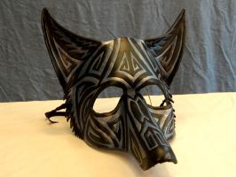 Tribal Blue Canine Mask by LadyAkeldama
