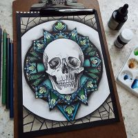Battle skull by GraceCRH