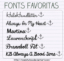 Mis fonts favoritas by NoemiTutos