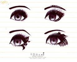 YOU-cee: Wild Eye Makeup Practice by YOU-cee