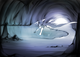Inside the ice cave by CUTEYAOIFAN-Shey