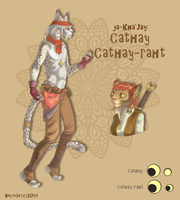types of Khajiits: Cathay and Cathay-rath by HeloiseTheSiamese