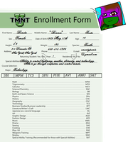 Bonnie's TMNT-U Enrollment Form by chattysis