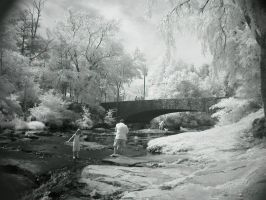 Indian Springs in IR by redtailhawker