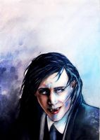 THE ART OF VILLAINY - vamp!Loki by Farbenfrei