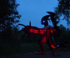 Yveltal Fullsuit: Nightglow by FlameTorchic