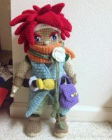 20 Inch tall Crono doll from Chrono Trigger by telshira