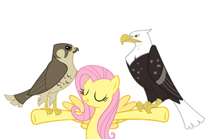 Fluttershy's Regal Birds by Angel-the-Bunny