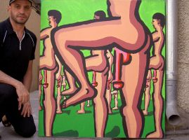 male parade erotic art painting man nude paintings by shharc