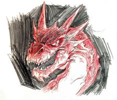 Smaug sketch by mistermoster